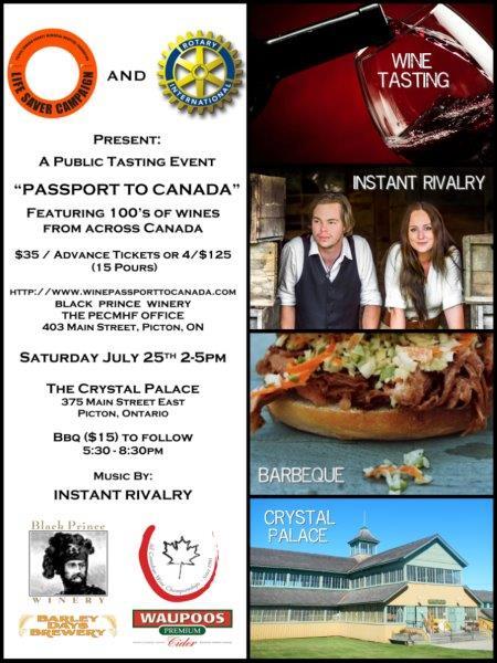 PASSPORT TO CANADA Wine Tasting
